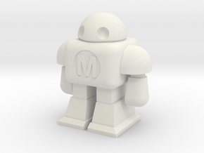 MAKE Robot in White Natural Versatile Plastic
