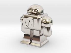 MAKE Robot in Rhodium Plated Brass