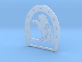Horseshoe Pendant in Smooth Fine Detail Plastic
