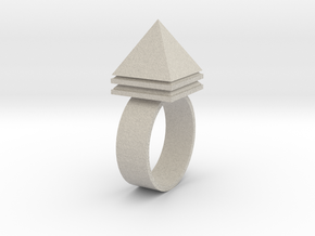 Pyramid Ring in Natural Sandstone