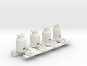 Milk Can Ball Toss in White Natural Versatile Plastic