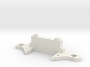 DMR MPC Front Bulkhead Low Down in White Natural Versatile Plastic