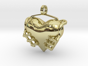Heart Engine in 18k Gold Plated Brass