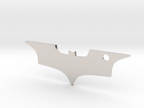 Batman logo keychain in Rhodium Plated Brass