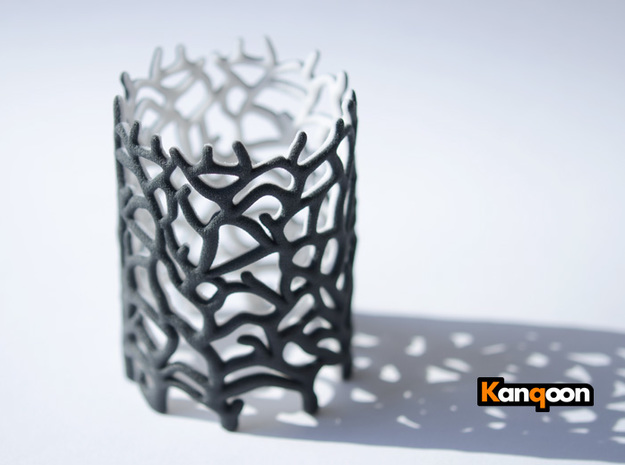 Coraline Tealight Black/White Sandstone in Full Color Sandstone