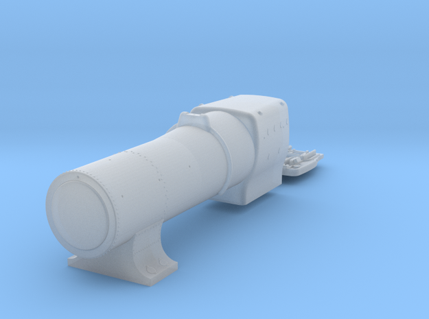 3700 City Class boiler, smokebox, firebox, 3mm in Smoothest Fine Detail Plastic