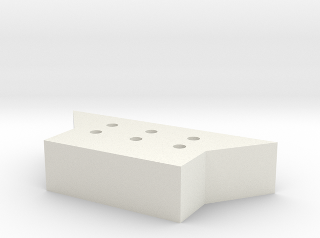 Lionel O Sharknose Pilot Coupler Mount in White Natural Versatile Plastic