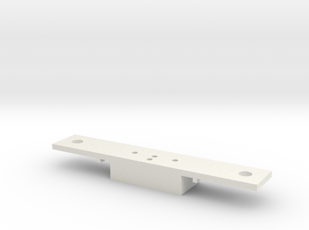 Lionel O scale EMD F3/F7 Coupler Mount (Part A) in White Natural Versatile Plastic