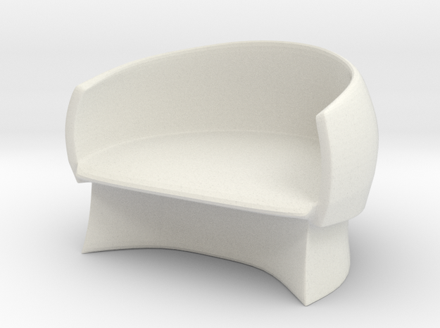 Chair No. 20 in White Natural Versatile Plastic