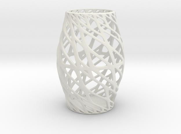 Art Vase 3 160mm in White Natural Versatile Plastic