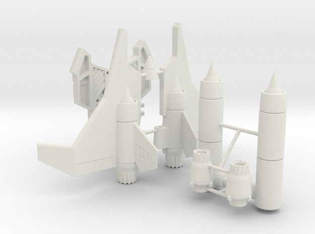 Generations Legends-class Ramjet DIY kit in White Natural Versatile Plastic