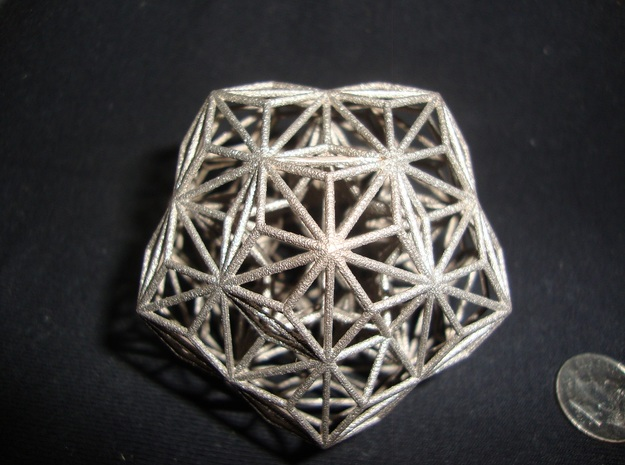 quasicrystal in Polished Bronzed Silver Steel