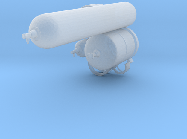 1:64 Gas canisters in Frosted Extreme Detail