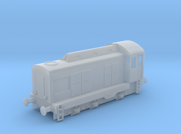 3mm/TT Scale E Class - High Hood in Smooth Fine Detail Plastic