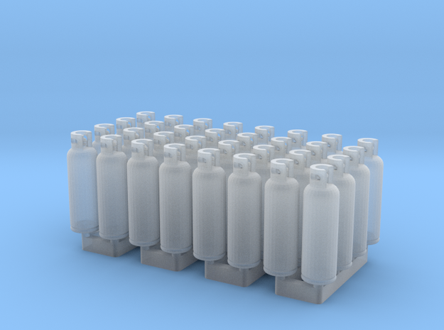 LPG Tanks 20kg, 32pc., N-scale in Smooth Fine Detail Plastic