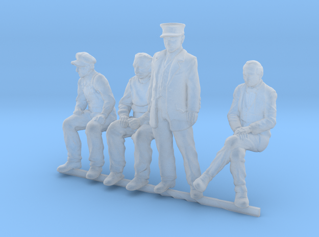 HO scale Figures 4 pack in Smoothest Fine Detail Plastic