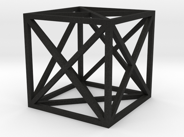 Tryagnle Cubed Pendent in Black Acrylic
