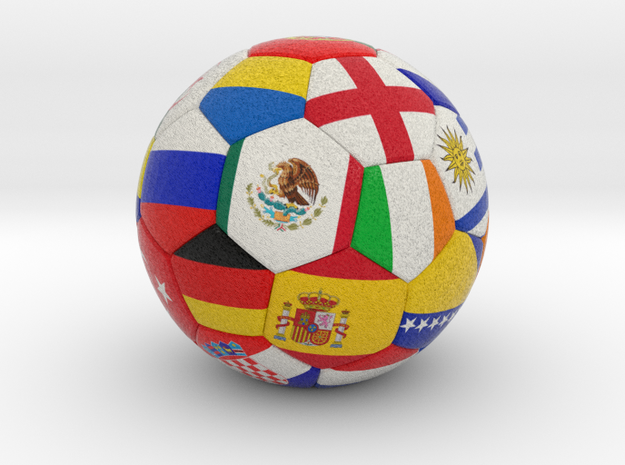 Soccer Ball 2016 in Full Color Sandstone