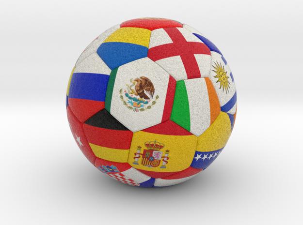 Soccer Ball 2016 in Full Color Sandstone
