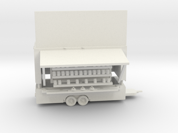 Cat Rack Game Trailer in White Strong & Flexible