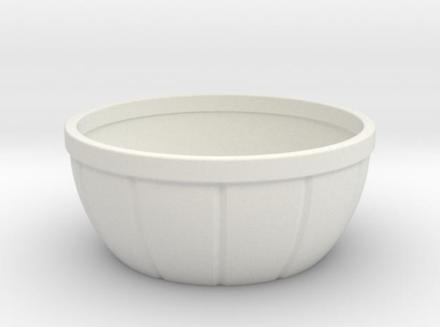 Bowl 7x7x3 inches in White Natural Versatile Plastic