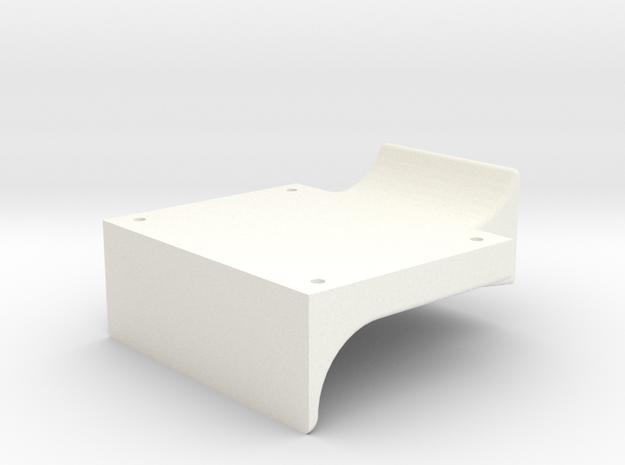 "3/4"" Scale Headlight Bracket in White Processed Versatile Plastic"