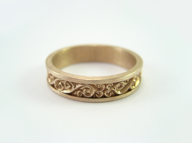 Harmony Ring in Raw Bronze