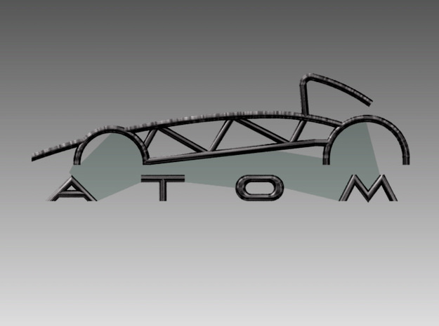 Atom Logo interpretation reversed 3d printed