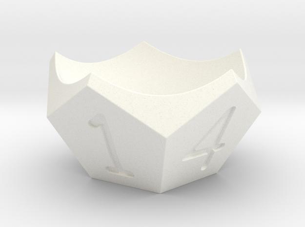Egg-cup in White Processed Versatile Plastic