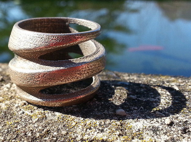 BASHIBA Spiral (16.50 mm) in Polished Bronzed Silver Steel