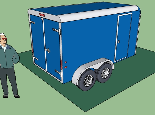 Trailer for A.Z., HO Scale in Smooth Fine Detail Plastic
