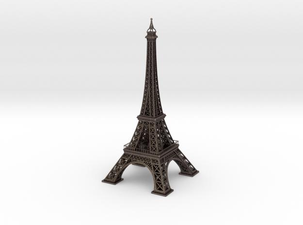 Eiffel Tower in Polished Bronzed Silver Steel