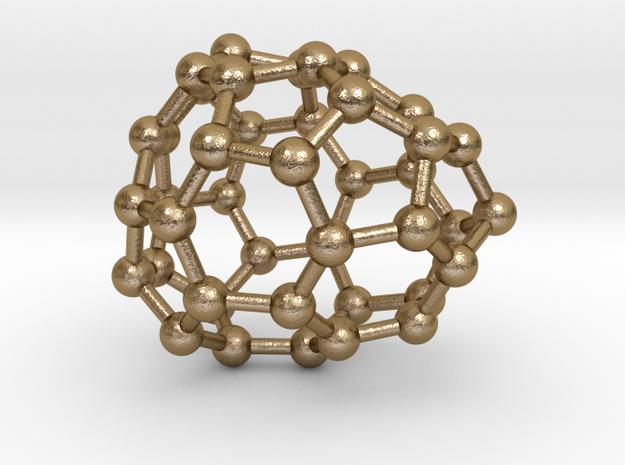 0247 Fullerene C42-26 c1 in Polished Gold Steel