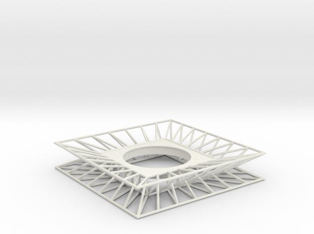 """ARTwork Frame for 2"""" Diameter Canvas in White Natural Versatile Plastic"""