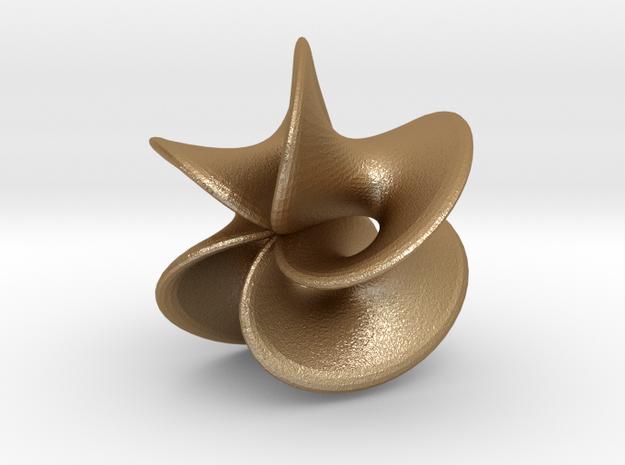 Geometric Pendant - Mobius Flower 3d printed stainless steel print