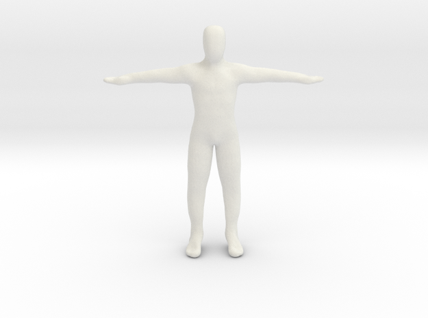 Dummy body in White Natural Versatile Plastic