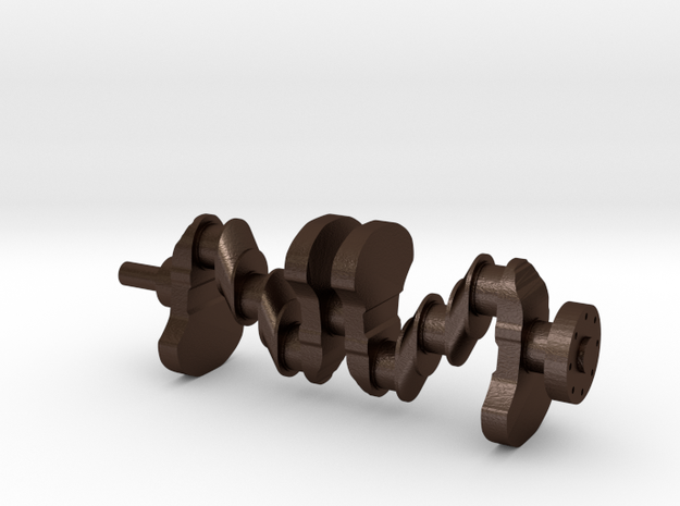 Motor part. crankshaft in Matte Bronze Steel