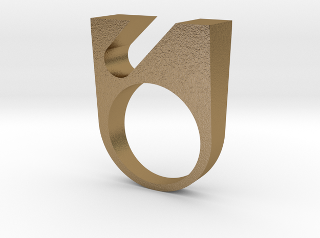 OPNR-ring female size 8 in Polished Gold Steel