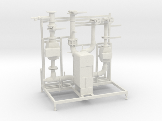 Pumpen Station in White Strong & Flexible