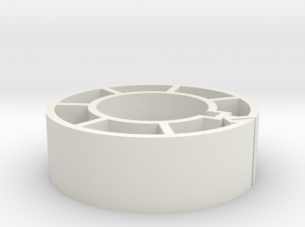 2in Core for 16mm in White Natural Versatile Plastic