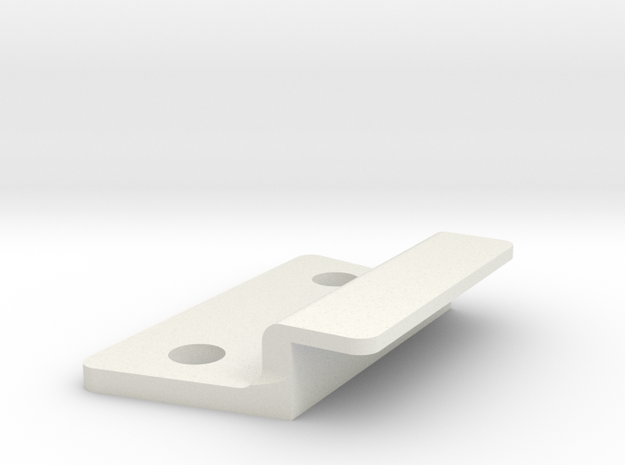 Rocketeer Buckle - Lock Cover in White Natural Versatile Plastic