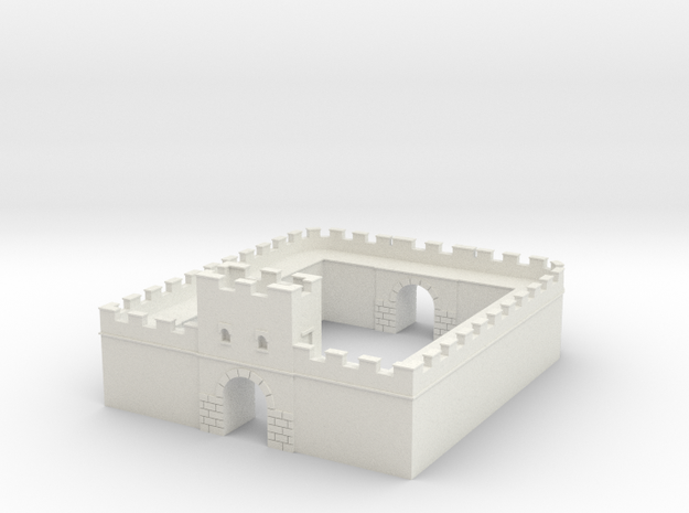 Roman Milecastle (Detached) in White Natural Versatile Plastic