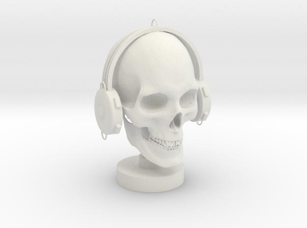 Skull DJ in White Strong & Flexible