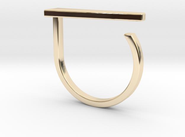 Adjustable ring. Basic model 10. in 14K Yellow Gold
