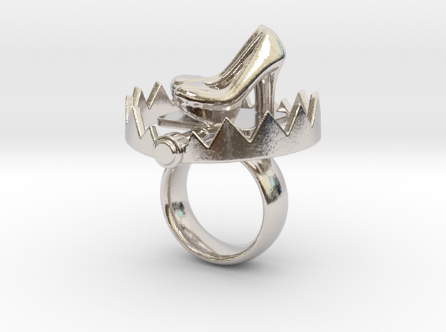 Ring Snap Trap  in Rhodium Plated Brass: 4.25 / 47.125