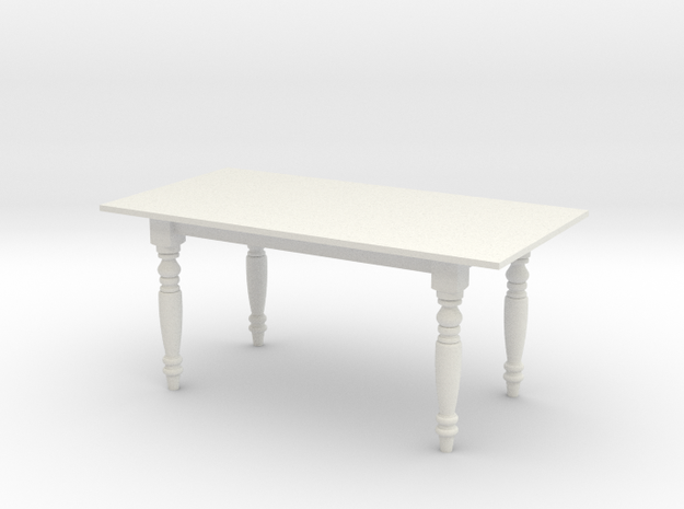 1:24 Dining Table 2 (NOT FULL SIZE) in White Natural Versatile Plastic