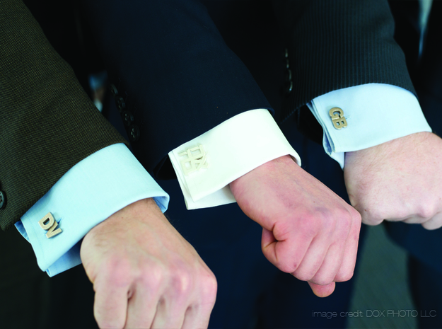 Monogram Cufflinks GB in Stainless Steel