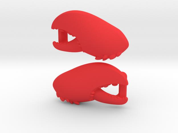 """Lobstah"" Lacelock in Red Processed Versatile Plastic"