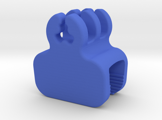 Desk Edge Cable Holder in Blue Strong & Flexible Polished