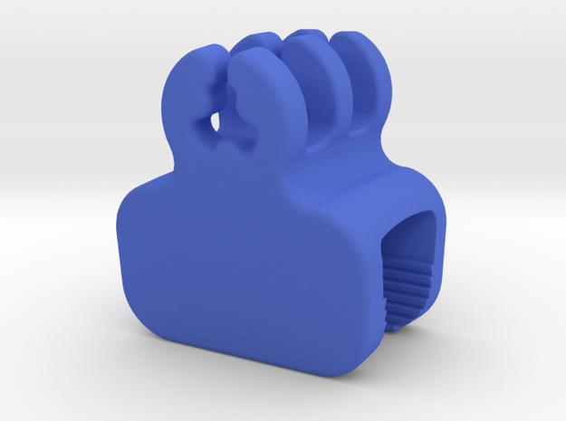 Desk Edge Cable Holder in Blue Processed Versatile Plastic